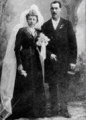 Wedding Picture Nicolas Duprel and Marie Schintgen 1902